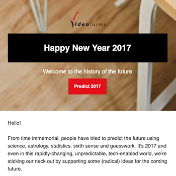 Welcome to the history of the future | January 2017