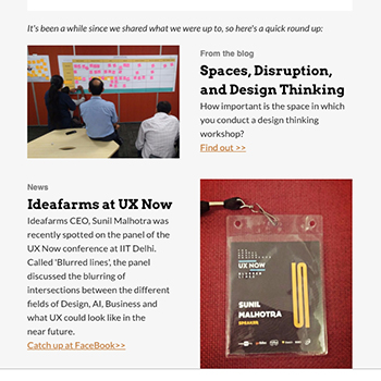 Spaces in Design Thinking | October 2017