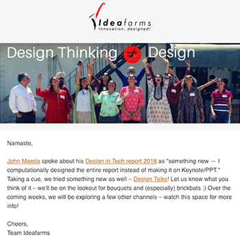Design Thinking is not equal to design | April 2018