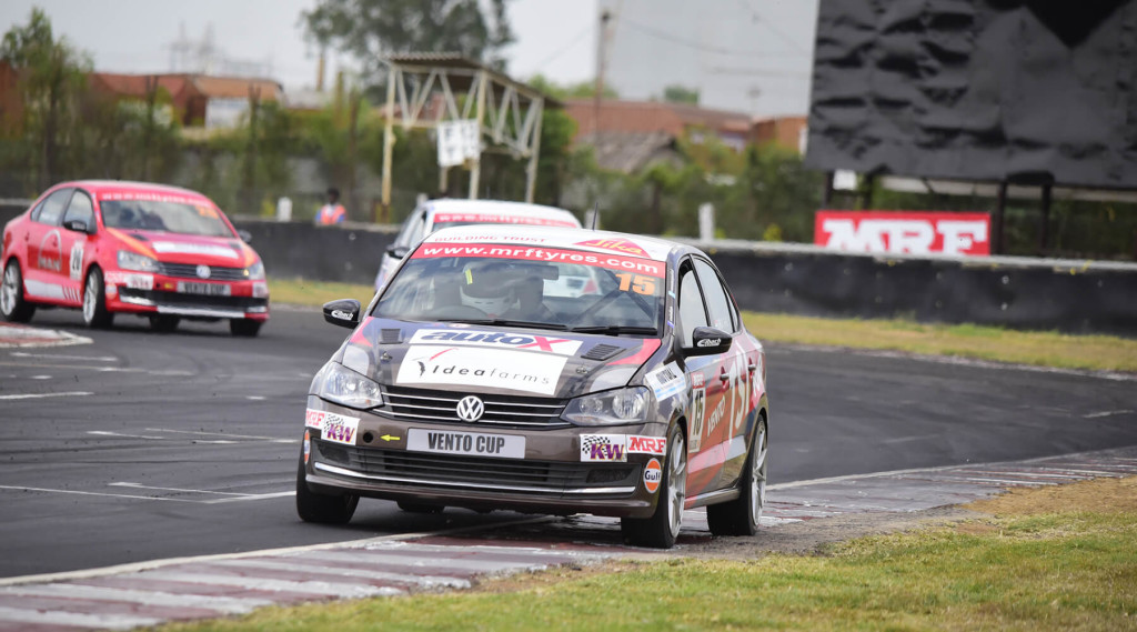 Look who's sitting atop the Vento! Image © Volkswagen Motorsport India